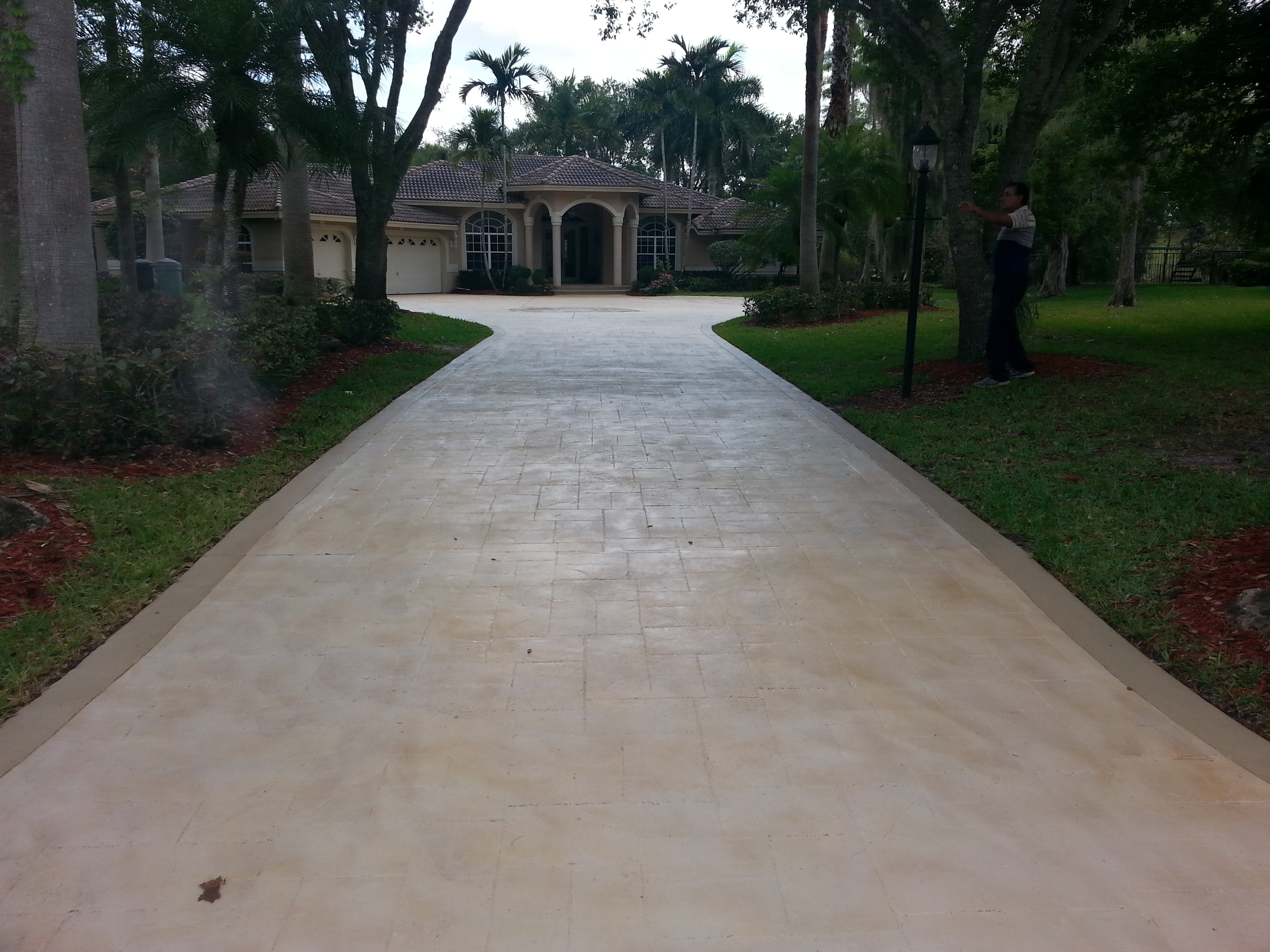 driveway restoration painting sealing eagle concrete corp broward. Black Bedroom Furniture Sets. Home Design Ideas