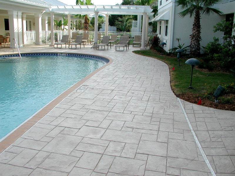 Stamped Concrete Around Pool Pictures To Pin On Pinterest